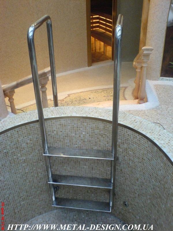 Лестницы для бассейнов своими руками 32