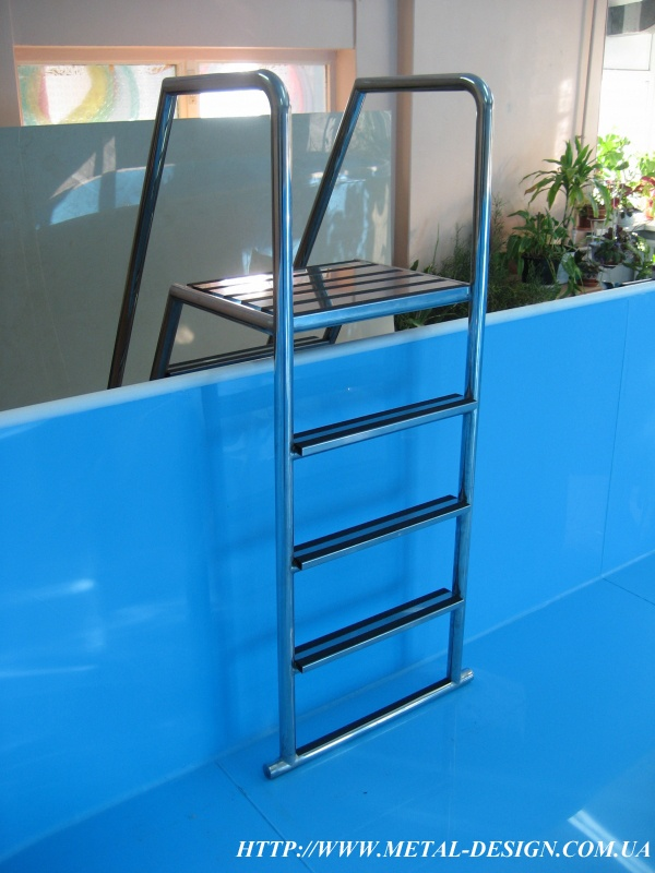 Лестница для бассейна своими руками из пластиковой трубы 52